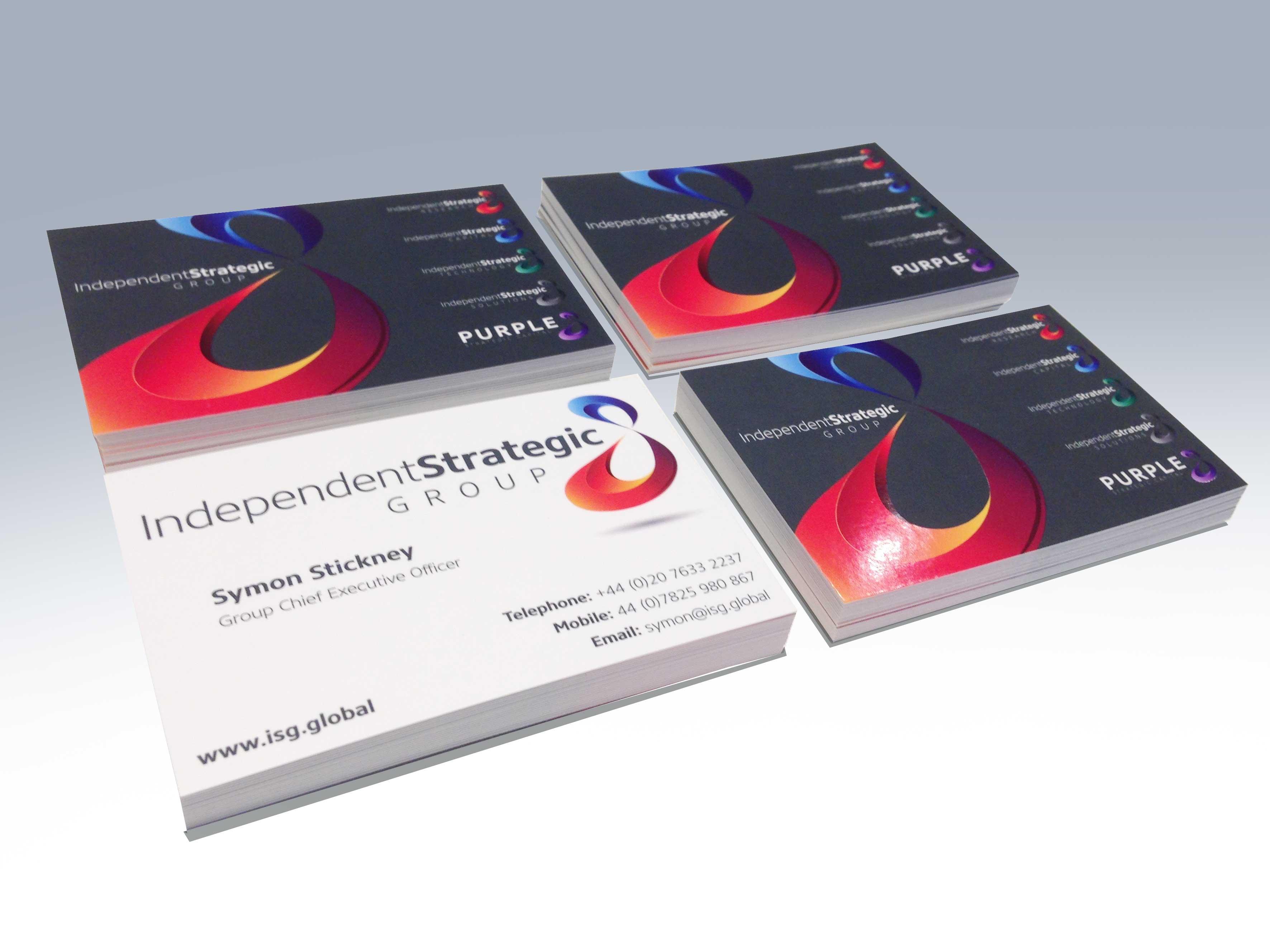 business cards spot uv print fx